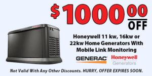 1000 Off Honeywell Home Generators